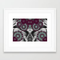 geode Framed Art Prints featuring Geode 5 by michiko_design