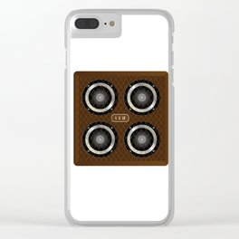 4 X 12 Guitar Amplifier Cabinet Clear iPhone Case