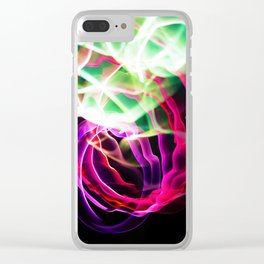 Glowing Neon Lights (Color) Clear iPhone Case