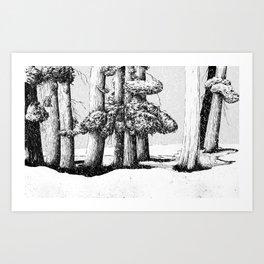 Tree Scene Art Print