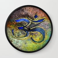 namaste Wall Clocks featuring Namaste by Imperfections