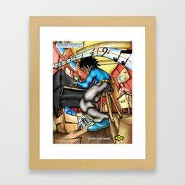 C2 & Posse piano player Framed Art Print