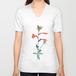 Flower No. 2: California fuchsia Unisex V-Neck