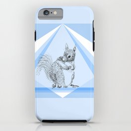 Squirrel stealing nuts iPhone Case
