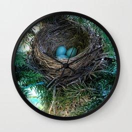 Robins Nest Wall Clock