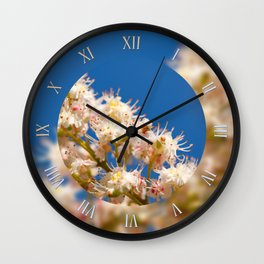 Macro of Aesculus blossoms Wall Clock