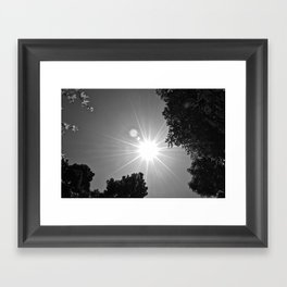 Sun and Sky Framed Art Print