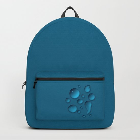 Water drops on a blue background Backpack