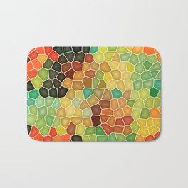 Colorful stained glass Bath Mat
