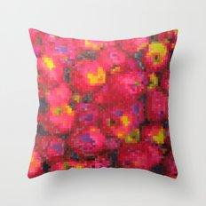 Apple on pixel Throw Pillow