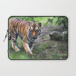Tiger is walking in the woods Laptop Sleeve