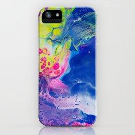 Dirty Pour Acrylic Paint iPhone Case