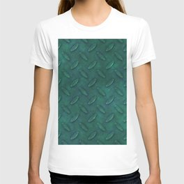 Metal green diamond steel T-shirt