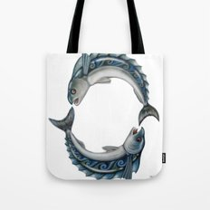 Fish Circle Tote Bag