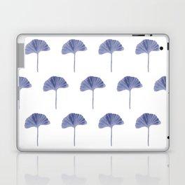 Blue Ginko Leaf - Minimalist Nature Laptop & iPad Skin