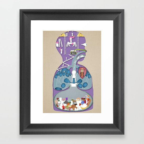 What a child thinks is inside of them Framed Art Print