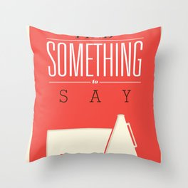 Literary Quote Poster — Title Poster Throw Pillow