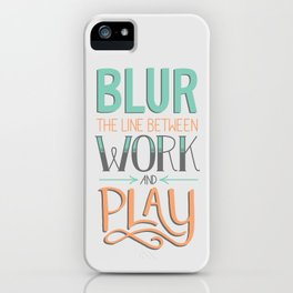 Work and Play iPhone Case