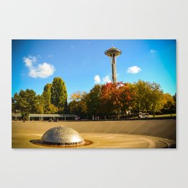 Space Needle with autumn hues Canvas Print