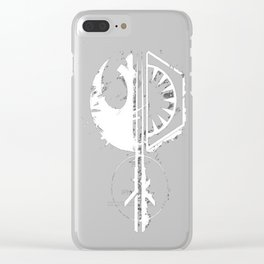 Galactic Emblems Minimalist Resurgence T-Shirt Clear iPhone Case