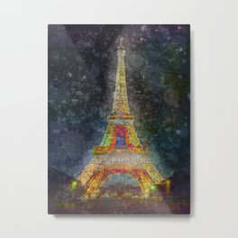 Eiffel Tower art Metal Print