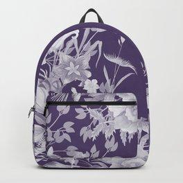 Stardust Violet Indigo Floral Motif Backpack