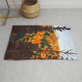 Forest Invermere by Dennis Weber of ShreddyStudio Rug