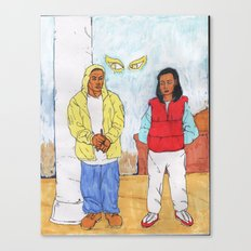 Throw back. Canvas Print