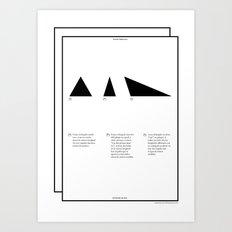 Geometric - Triángulos . (Spanish) Art Print
