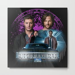 Supernatural The Roads Journey Metal Print