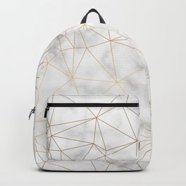 Marble Gold Geometric Texture Backpack