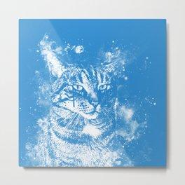 koko the cat wswb Metal Print