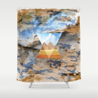 egypt Shower Curtains featuring EGYPT by sametsevincer