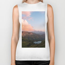 Mountain lake in Germany with Moon - landscape photography Biker Tank