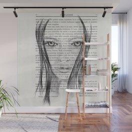 Nina - Pencil drawing Wall Mural