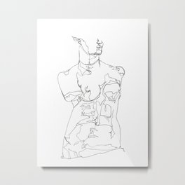 Line XI (Venus) Metal Print