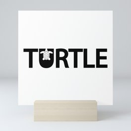 Turtle creative design Mini Art Print