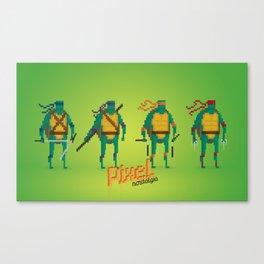 Ninja Turtles - Pixel Nostalgia Canvas Print