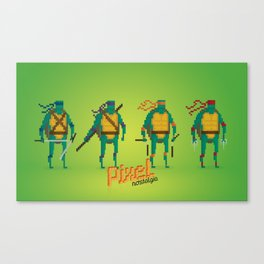 Ninja Turtles - Pixel Nostalgia Canvas Print