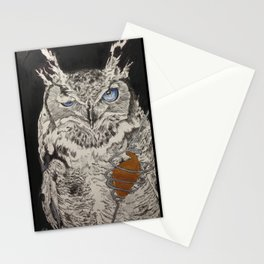 the cool owl Stationery Cards