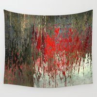 politics Wall Tapestries featuring Dramatic thoughts  by Tanja Riedel