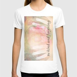 Orange Rose Heart and Hands Kind and Forgiving T-shirt