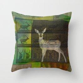 The Animal World Throw Pillow