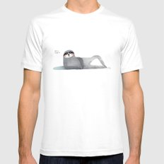 hello there :) MEDIUM Mens Fitted Tee White