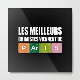 Paris Chemists for Chemistry Lovers Metal Print