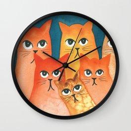 Santa Fe Whimsical Cats Wall Clock