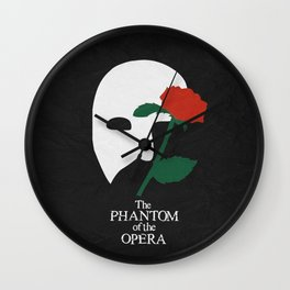 The P Of The Opera 01 Wall Clock