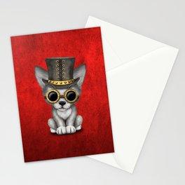 Steampunk Baby Wolf Cub Stationery Cards