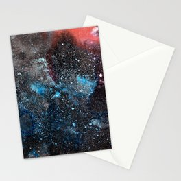 Abstract Cosmos Watercolor Art Stationery Cards