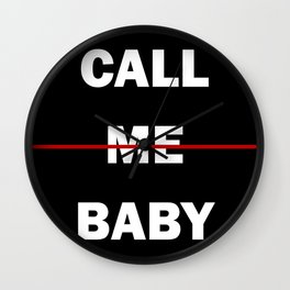 Call Me Baby Wall Clock